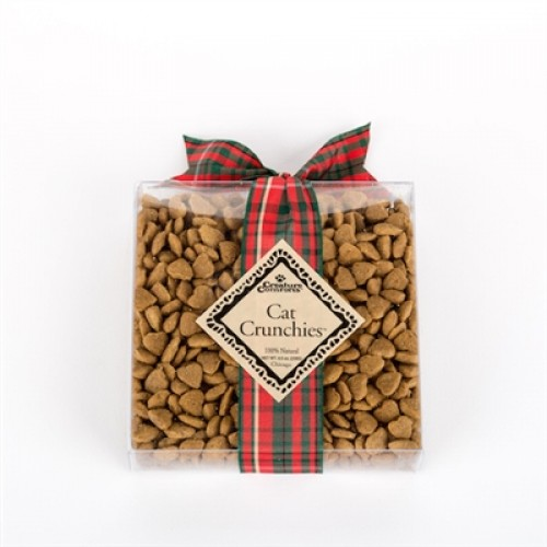 Cat Crunchies™ - Clear Plastic Gift Box with your choice of decorative ribbon