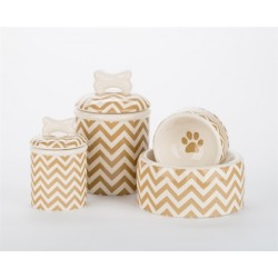 Chevron Bowls and Treat Jars Collection