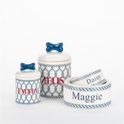 Personalized Nautical Bowls and Treat Jars Collection