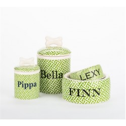 Personalized Trellis Bowls & Treat Jars Collection