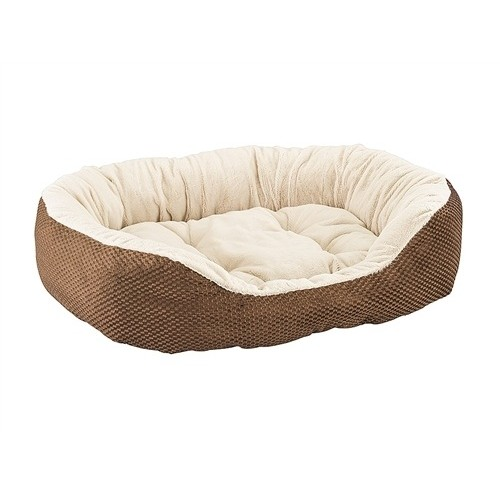"""Ethical Pet Checkerboard Napper Cuddler 31""""Chocolate"""