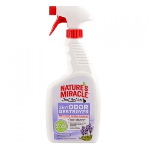 Nature's Miracle Just For Cats 3in1 Odor Destroyer Lavender 24oz